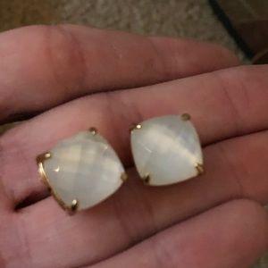 Kate Spade gold plated moonstone earrings